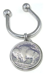 Nickel Key Ring
